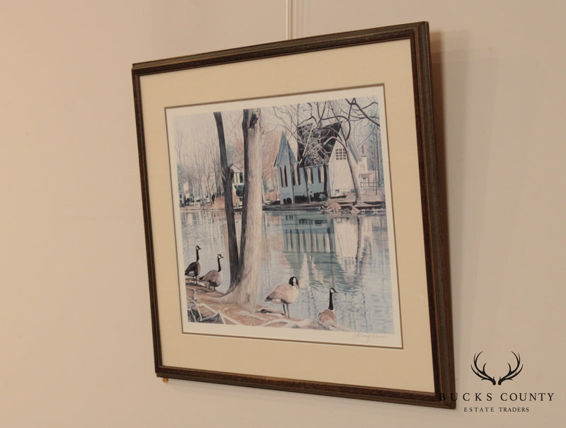 Nancy Weiser Pencil Signed Framed Print of Yardley Library