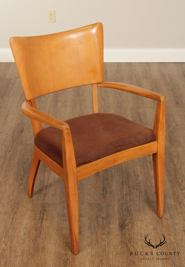 Heywood Wakefield Mid Century Modern Champagne Finish Armchair
