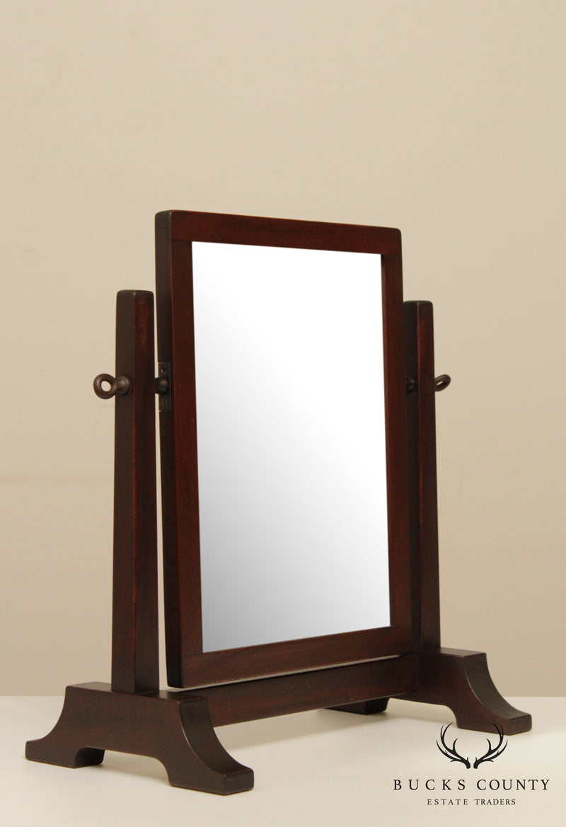 Gustav Stickley Rare Antique Mahogany Shaving Mirror