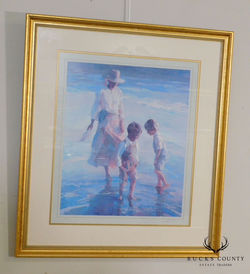 "Don Hatfield ""Dancing in the Sand"" Framed Signed Giclee Art Print"
