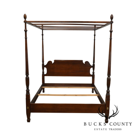 Statton Old Towne Solid Cherry Queen Poster Bed
