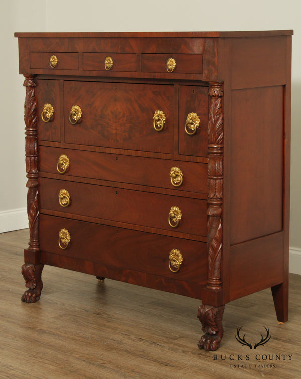 Antique American Empire Mahogany Chest of Drawers