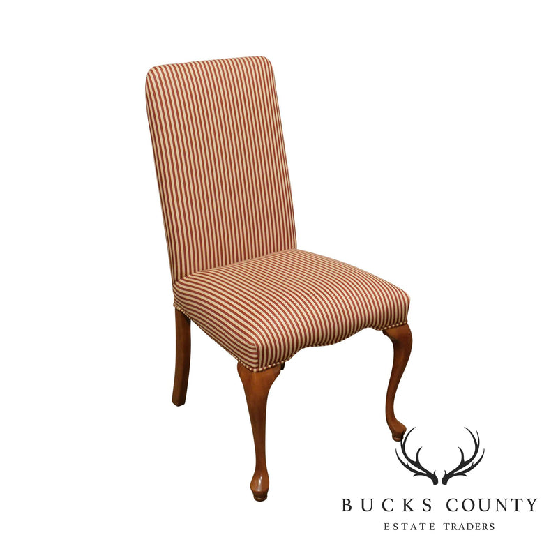 George III Style Quality Upholstered Back Side Chair