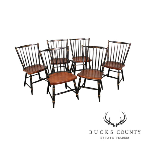 Hitchcock Vintage Set 6 Windsor Dining Chairs