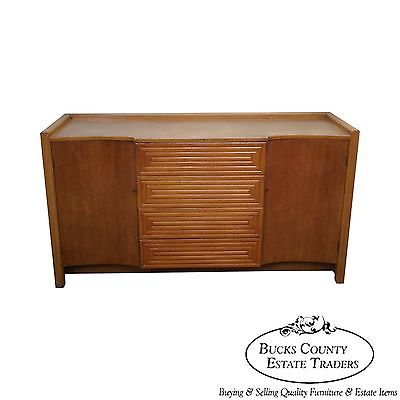 Johan Tapp Gumps Mid Century Modern Faux Bamboo Sideboard Credenza Cabinet