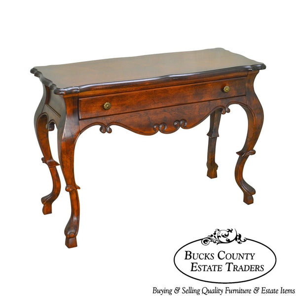 Hickory Manufacturing Co. Vintage Baroque Style One Drawer Console Table