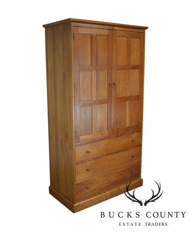 Stickley Cherry Arts & Crafts Style Bedroom Armoire Cabinet