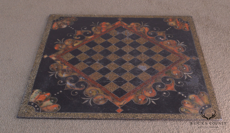 Antique Slate Chess Game Board (B)