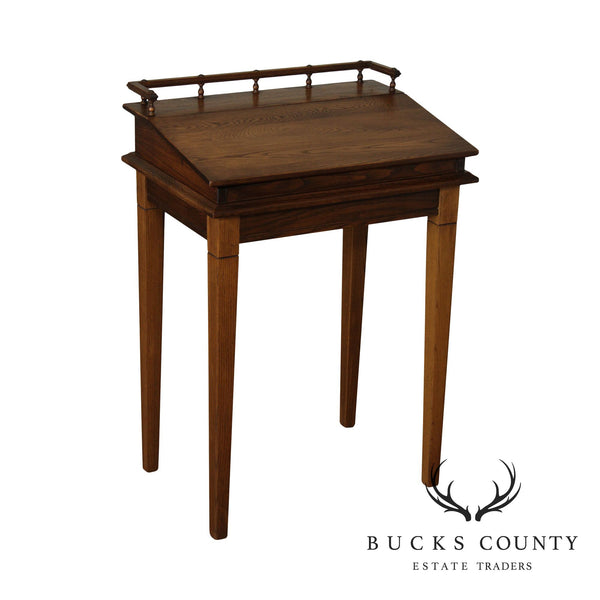 Small Oak Slant Lid Writing Desk