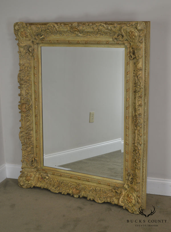 Rococo Style Carved Frame Beveled Wall Mirror by Windsor Art