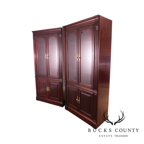 Stickley Solid Mahogany Pair of Display Cabinets