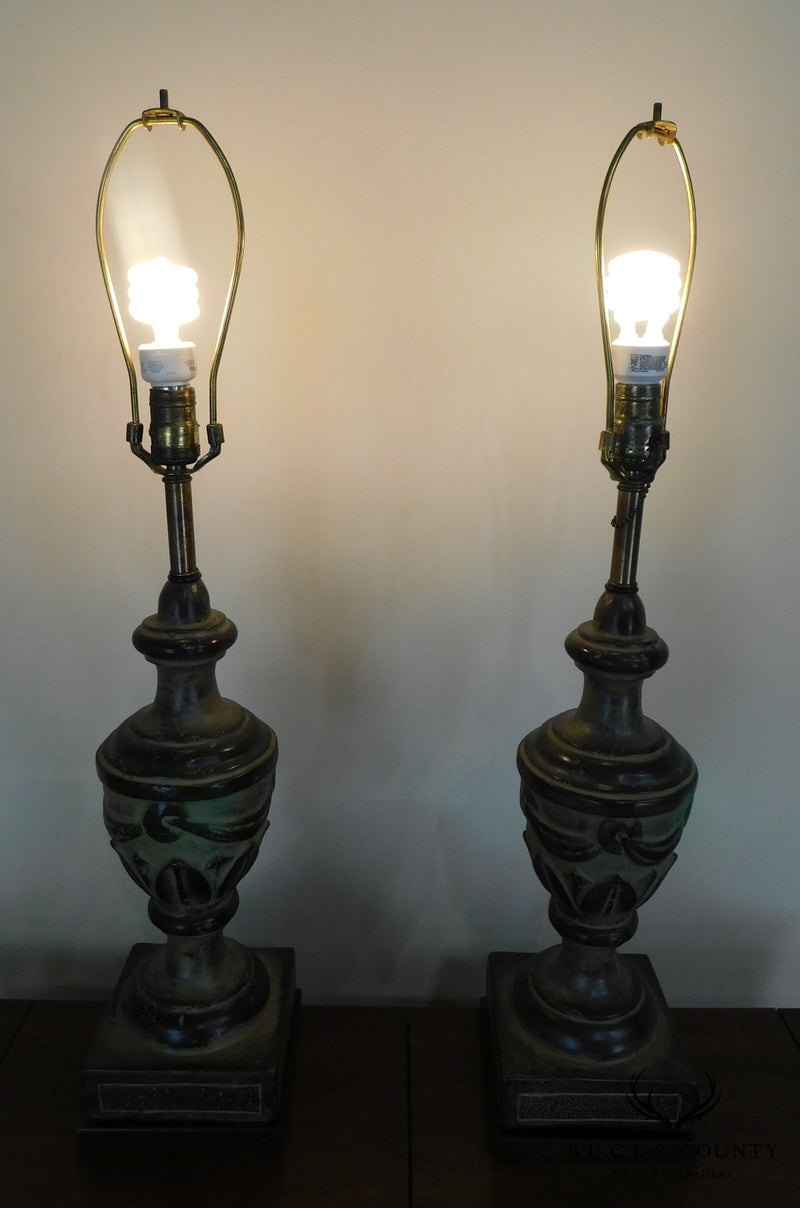 Frederick Cooper Vintage Pair Urn Table Lamps
