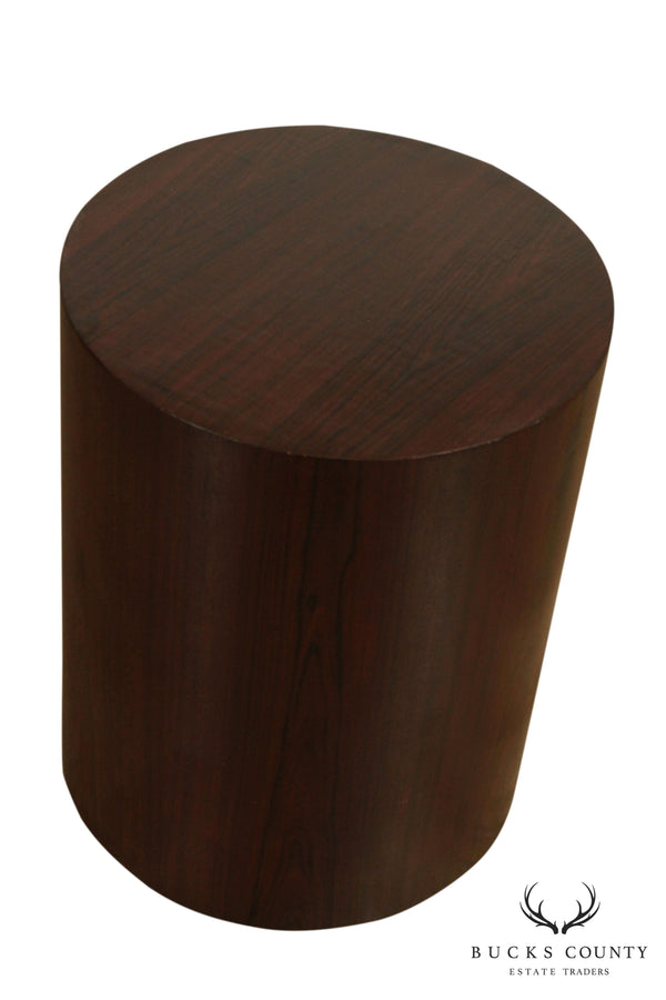 Helikon Mid Century Modern Rosewood Cylinder Side Table