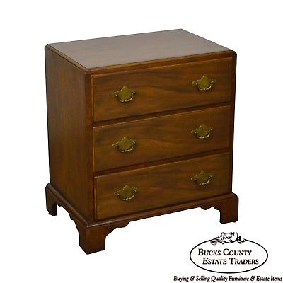 Baker George III Style Walnut Chest of Drawers