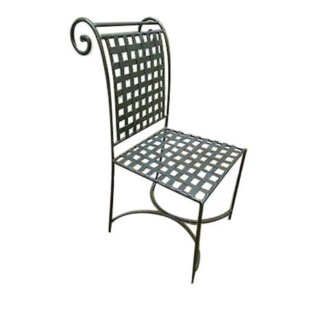 Vintage Regency Directoire Iron Woven Metal Side Chair