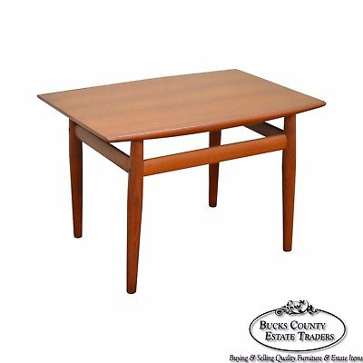 Danish Modern Mid Century Teak Side Table