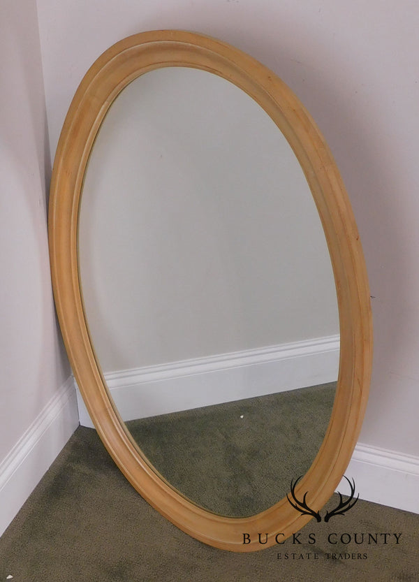 Ethan Allen French Country Maple Oval Mirror