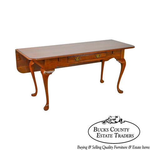 Pennsylvania House Solid Cherry Drop Leaf Large Writing Desk w/ Drawer