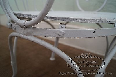 Vintage Iron Hooded Canopy Garden Arm Chair