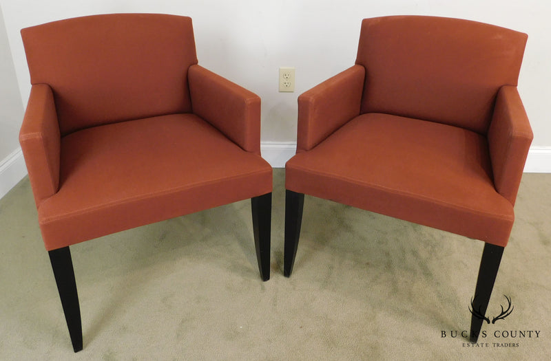 Modenature Classic Modern French Art Deco Style Pair Bergere Chairs (B)