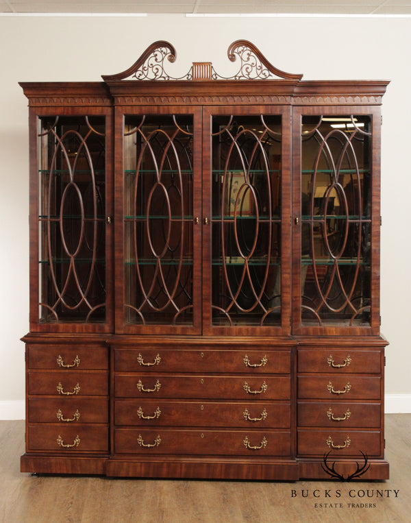 Henredon Rittenhouse Square Collection Mahogany Chippendale Style Breakfront