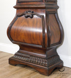 Mahogany Round Face Grandfather Clock