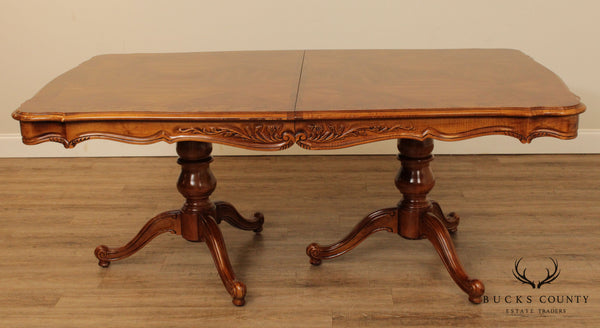 Bernhardt French Country Style Vintage Parquet Top Dining Table
