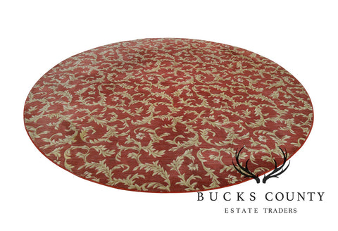 "Nourison Hamilton House Collection 114"" Round Red & Gold Rug"