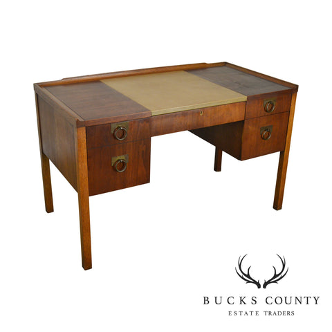Edward Wormley for Drexel Walnut Leather Top Desk