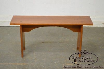 Studio Crafted Solid Cherry Wood Bench