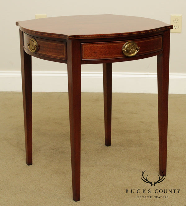 Kindel Winterthur Collection Mahogany Inlaid Connecticut Side Table