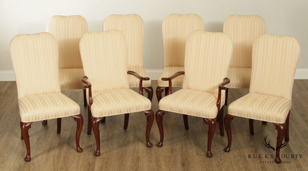 Baker Historic Charleston Set 8 Mahogany Queen Anne Dining Chairs