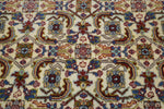 Hand Tied Red, Blue and Tan Area Throw Rug