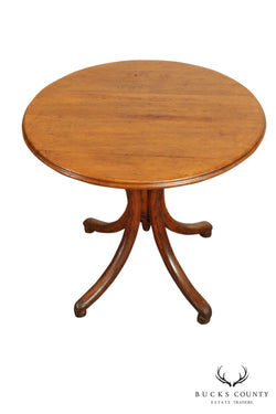 Thonet Round Bentwood Base Antique Side Table (A)