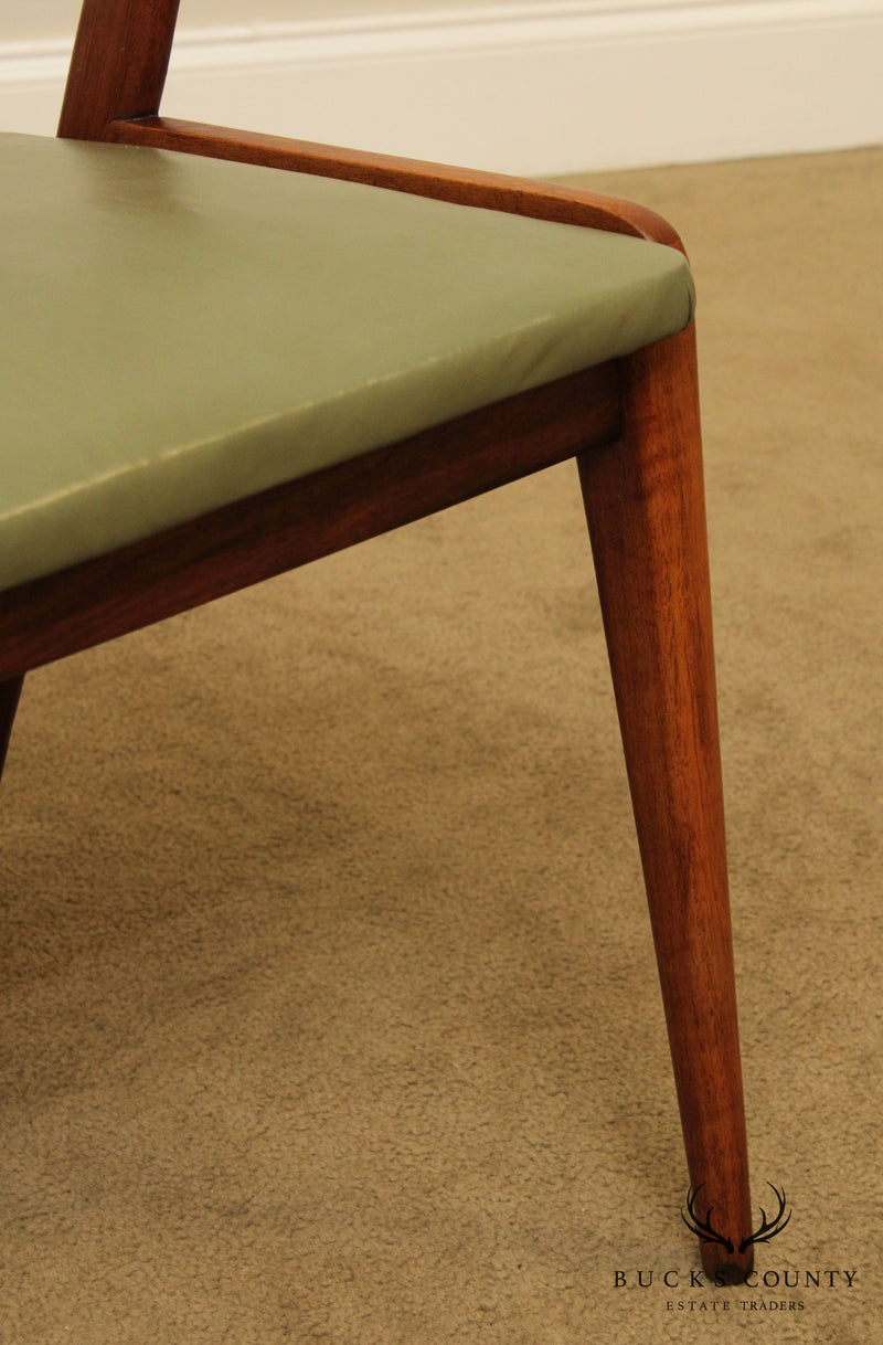 Bertha Schaefer Singer and Sons Mid Century Modern Walnut Side Chair