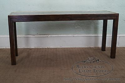 Henredon Smoked Mirror Top Console Sofa Table
