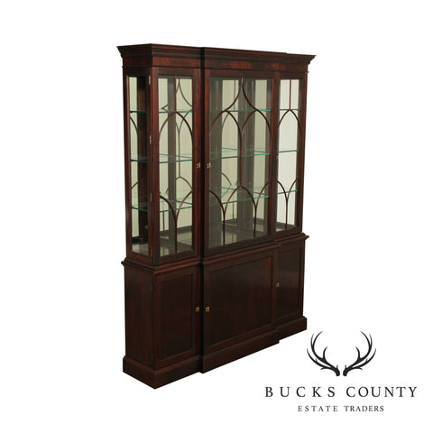 Stickley Mahogany Collection Chippendale Style China Cabinet Breakfront