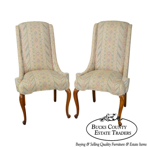 Vintage Pair of Louis XV Style Host Wing Chairs