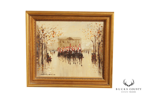 "Donald Stocton Smith ""Cavalry Parade"" Oil Painting of Queens Guard"