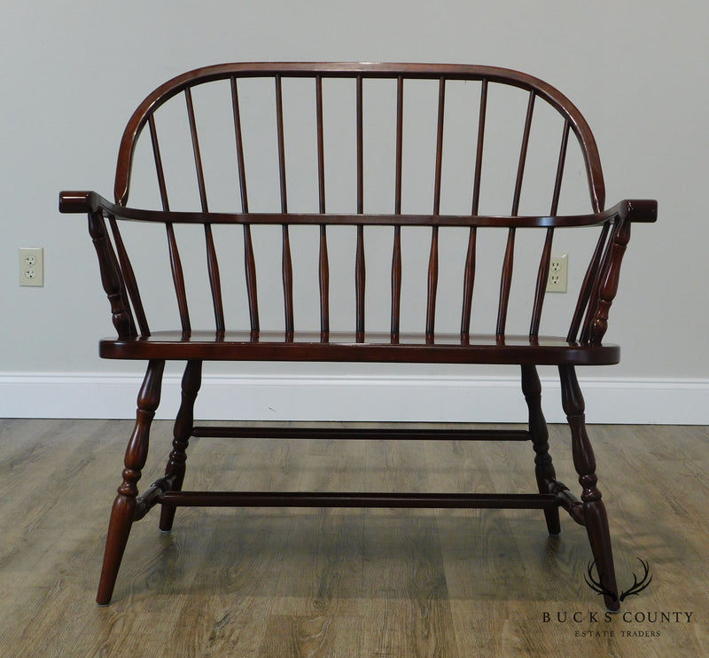 Tom Seely Custom Solid Cherry Windsor Bench (B)