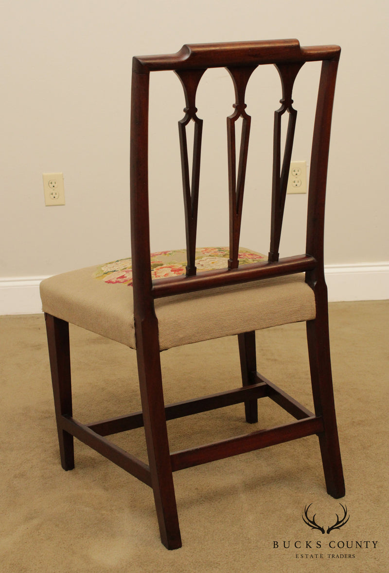 Antique Sheraton Period Mahogany Side Chair