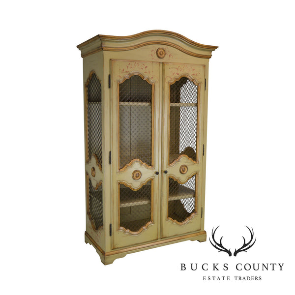 Woodland Furniture French Country Style Large Hand Painted Armoire