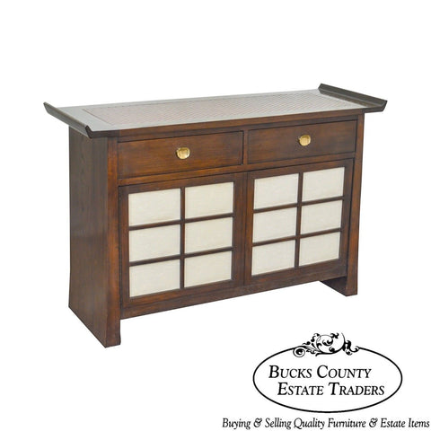 Bernhardt Flair Division Asian Inspired Console Server Cabinet