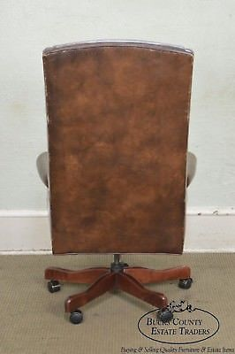 Outstanding Quality Brown Leather High Back Executive Office Chair D Interior Design Ideas Inesswwsoteloinfo