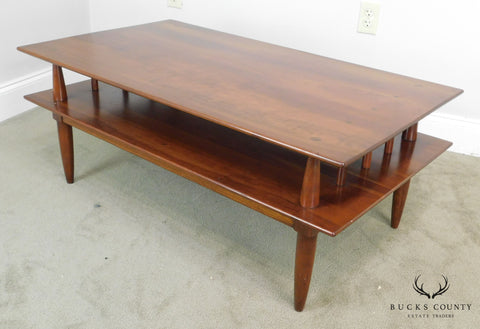 Willett Transitional Solid Cherry Mid Century Modern Coffee Table