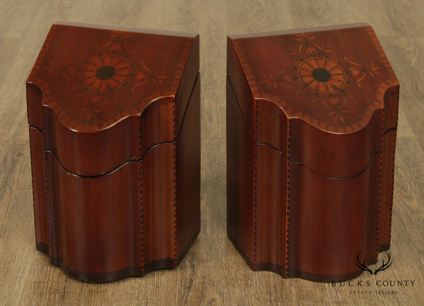 Federal Style Mahogany Pair of Knife Boxes