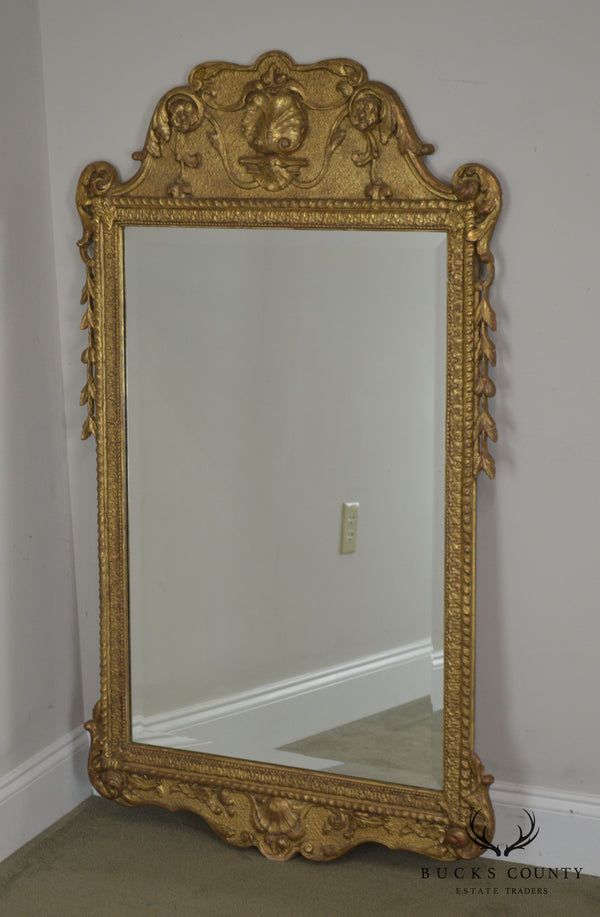 Friedman Brothers English Baroque Style Gilt Carved Wall Mirror