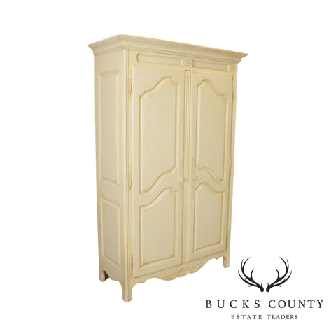 Ethan Allen Country French Cream Painted Armoire