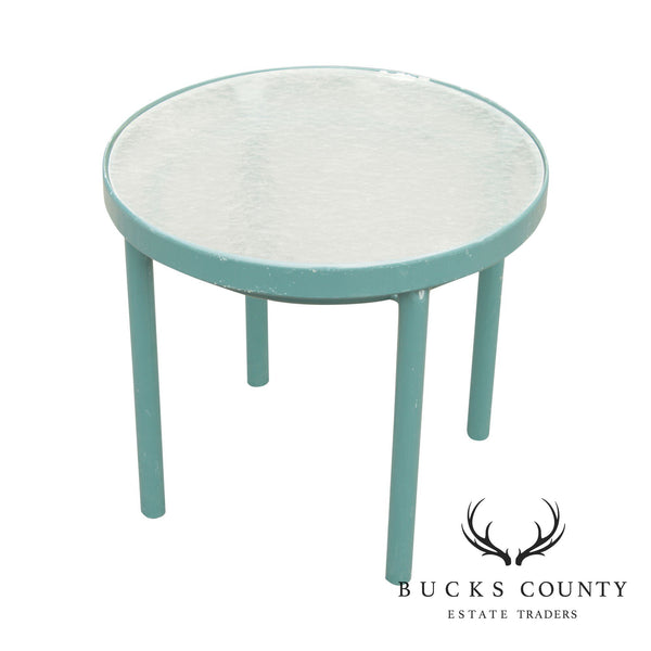 Brown Jordan Round Green Outdoor Patio Side Table