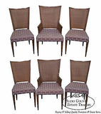 Widdicomb Mid Century Set of 6 Modern Cane Back Dining Chairs